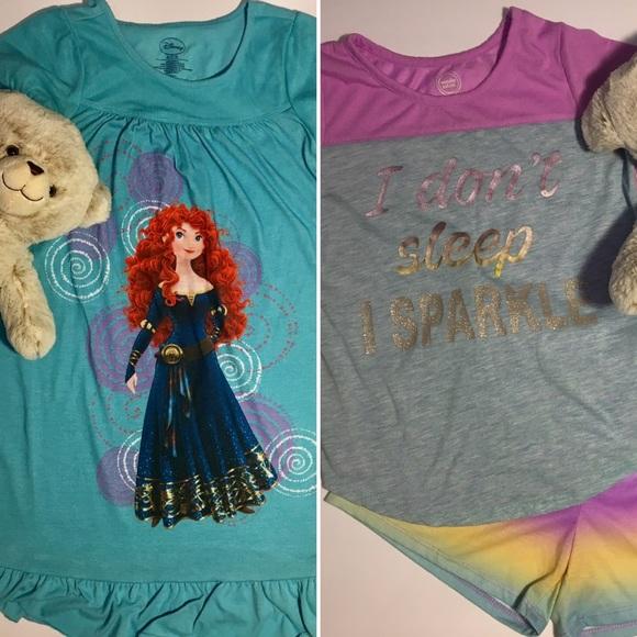 Disney Other - Girls Nightgown Pajamas Set BUNDLE Disney's Brave